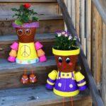 Decoratiuni din vase de flori