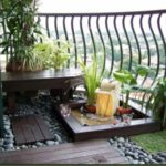 Gradina cu cascada in balcon
