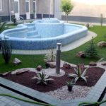 Gradina cu piscina mare