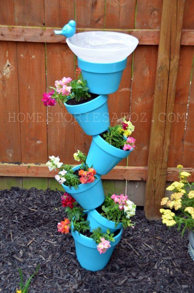 Gradina inaltata din vase de flori