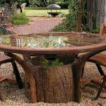 Masa din trunchi de copac