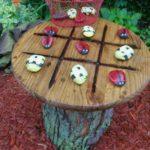 Masuta decorativa din trunchi de copac