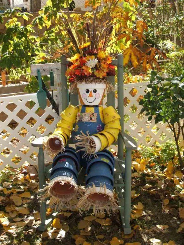 Sperietoare pasari din vase de flori