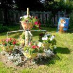 Suport flori de gradina