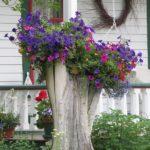 Suport flori din trunchi