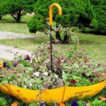 Suport flori din umbrela