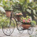 Suport flori in forma de bicicleta