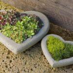 Suporturi de flori in forma de inima