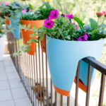 Vase cu flori pentru balcon