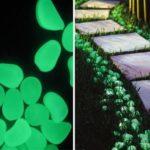 Alee iluminata cu pietre fosforescente