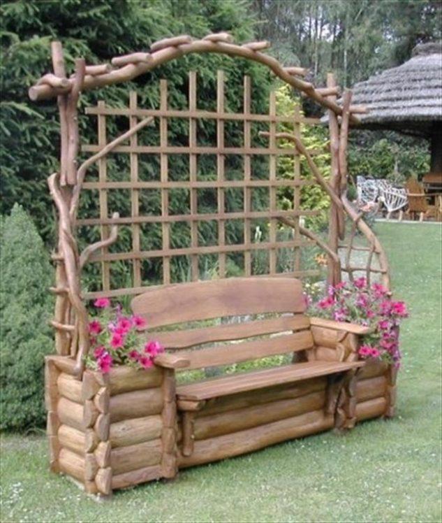 Banca din lemn pentru gradina