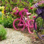 Biciclete colorate suporturi de flori