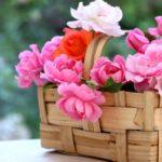 Cos de flori din lemn