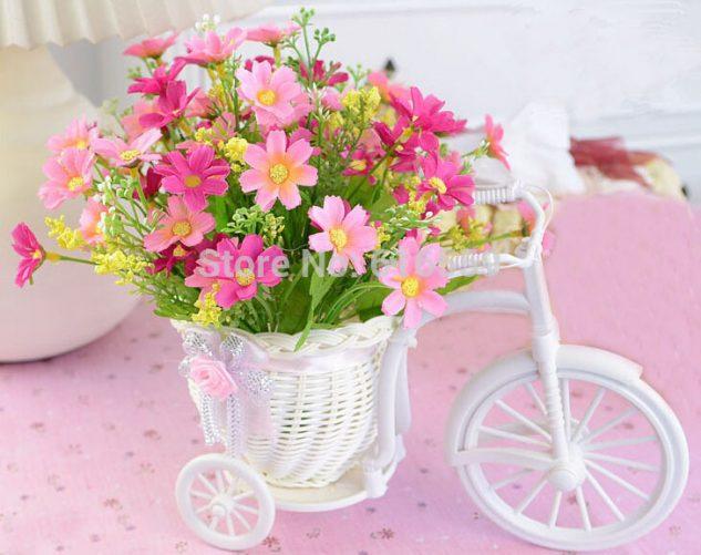 Cos de flori din plastic