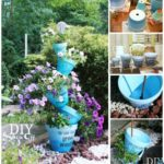 Creare decoratiune din vase de flori