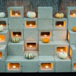 Decor de Halloween din caramizi