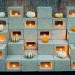 Decor de Halloween din caramizi