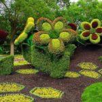 Decor mare gradina in forma de flori