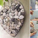 Decoratiune in forma de inima din pietre