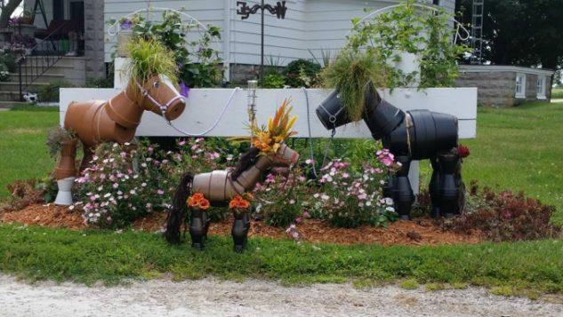 Decoratiuni gradina in forma de animale