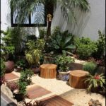 Gradina exotica cu plante decorative