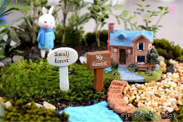 Gradina in miniatura ca decor