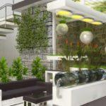 Gradina interioara cu plante decorative si agatatoare