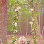 Leagan decorat cu plante si flori