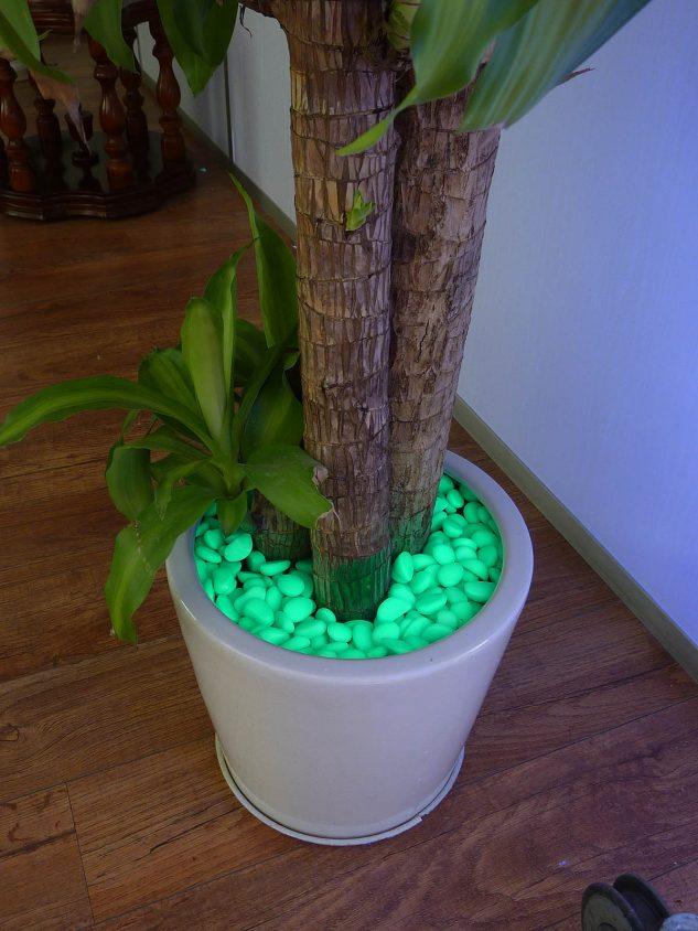 Pietre fosforescente verzi