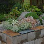 Strat inaltat de plante decorative din caramizi