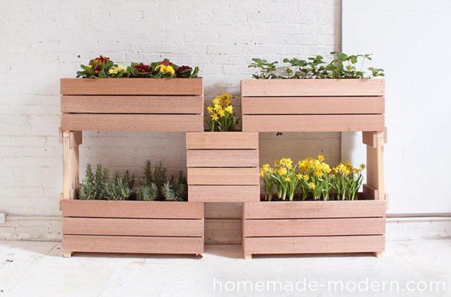 Suporturi de flori din lemn