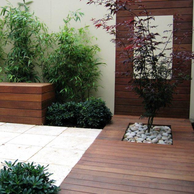 Terasa cu straturi cu plante