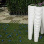 Vase de flori conice din ciment