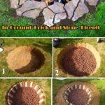 Amenajare foc de tabara in pamant