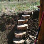 Amenajare scari gradina din lemn