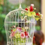 Colivie decorativa mica cu flori