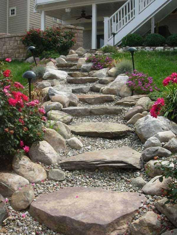 Gradina cu scari din piatra