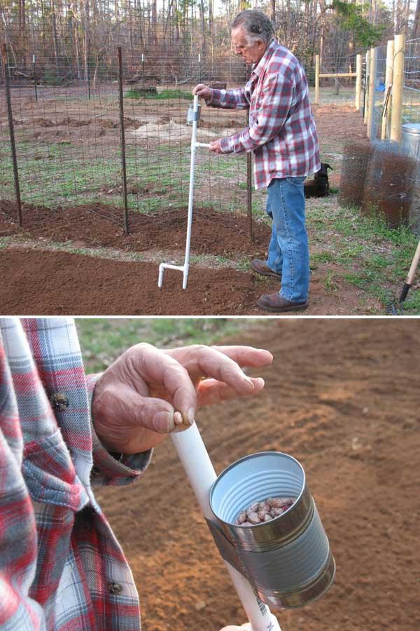 Plantator manual din teava PVC