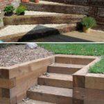 Scari din lemn pentru gradini