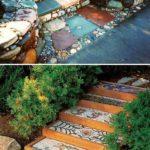 Scari gradina cu mozaic