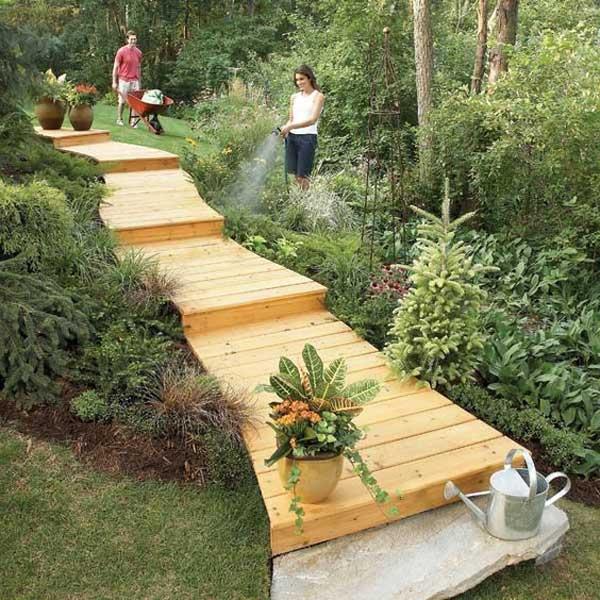 Scari gradina din lemn