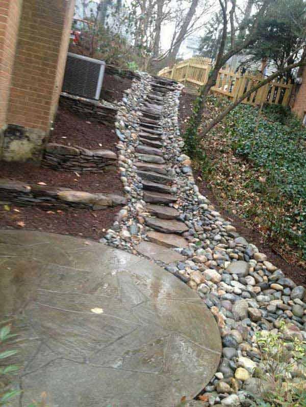 Scari gradina din piatra naturala