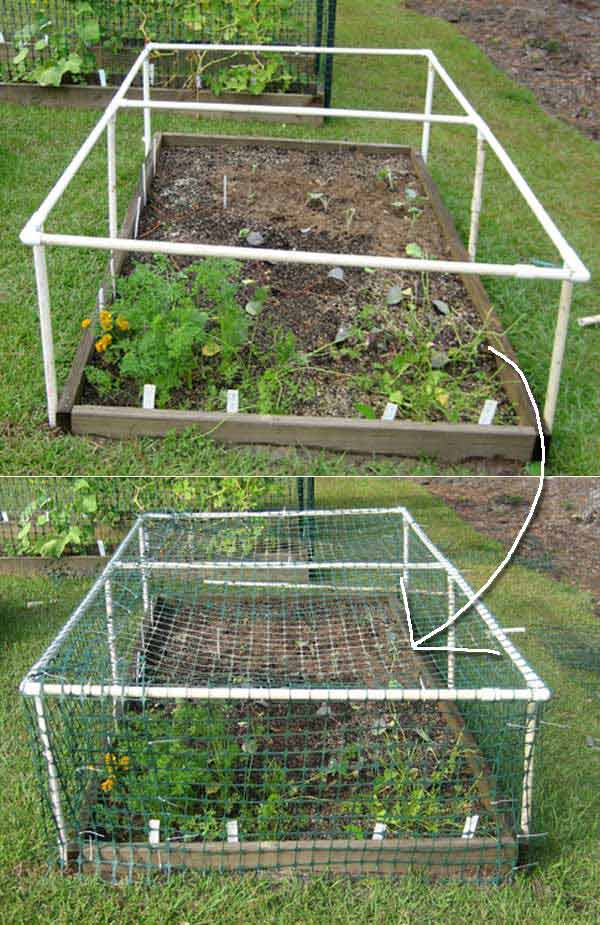 Strat legume din teava PVC