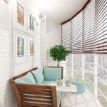 Balcon circular cu masa si scaune