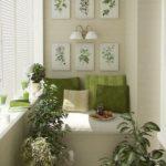 Balcon cu design alb verde