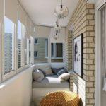 Balcon cu fotoliu si canapea