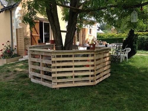 Bar gradina din paleti din lemn