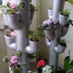Cascada de flori din tevei PVC