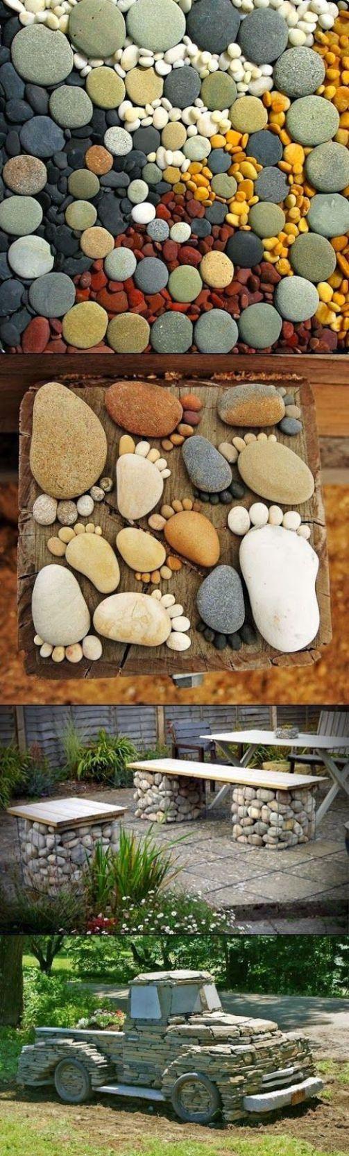 Decor alee cu pietre de rau