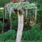 Decor trunchi de copac cu flori